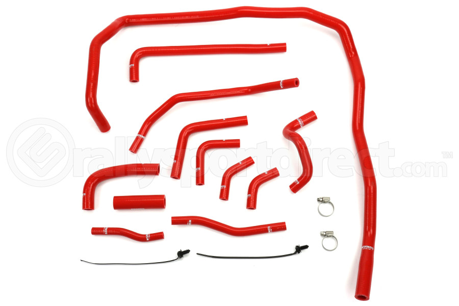 Mishimoto Silicone Ancillary Hose Kit Red (Part Number:MMHOSE-WRX-15ANCRD)