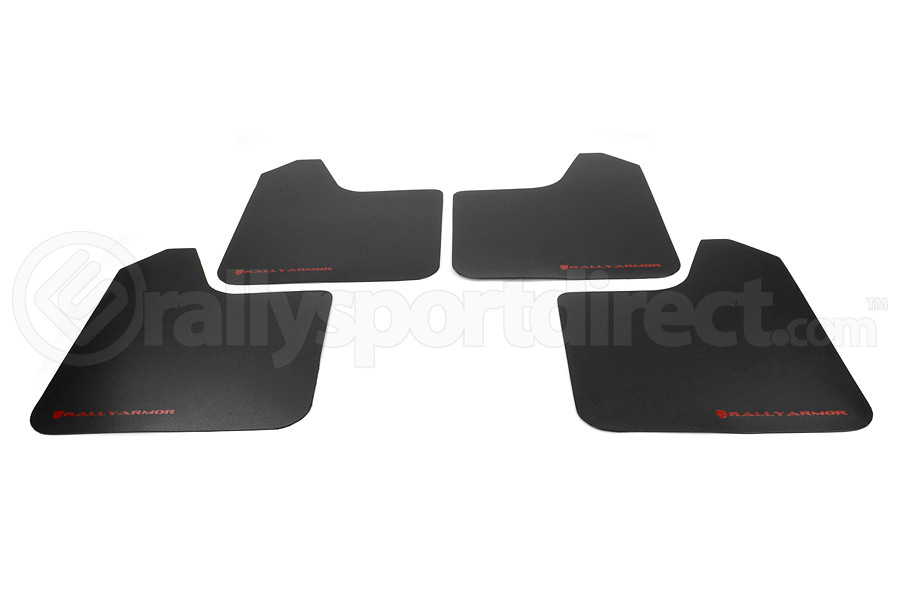 Rally Armor Basic Universal Mud Flap Red Logo ( Part Number:RAL MF12-BAS-RD)