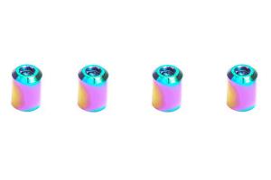 Dress Up Bolts Titanium Valve Stem Bullet Design Caps - Universal