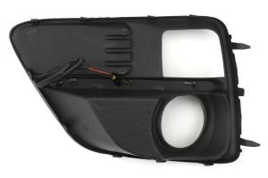 OLM Silverline S4 Style DRL Fog Light Bezels - Subaru WRX / STI 2015-2017