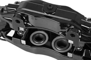 Stoptech ST-40 Big Brake Kit Front 355mm Black Zinc Slotted Rotors (Part Number: )