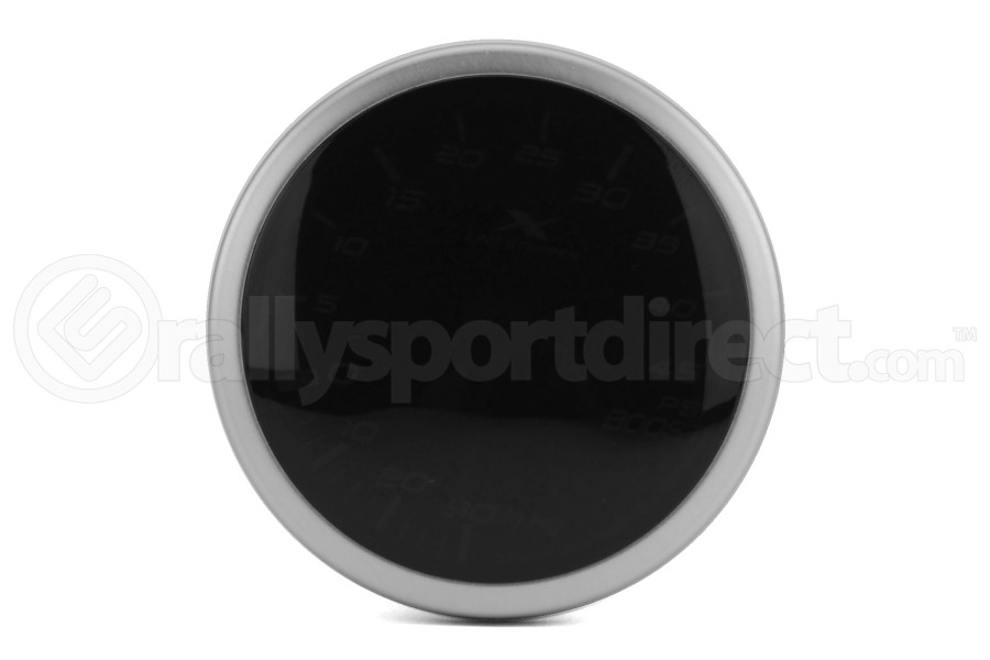 STRi X-Line V2 Smoke Lens White 52mm 45 PSI Boost Gauge (Part Number:XS5210W.2)