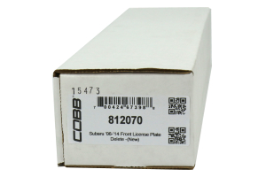 COBB Tuning Front License Plate Delete ( Part Number:COB 812070)