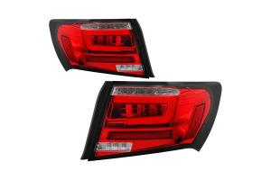 Spyder LED Tail Lights Red - Subaru WRX / STI Sedan 2008-2011