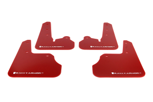 Rally Armor UR Mudflaps Red Urethane White Logo ( Part Number:RAL MF22-UR-RD/WH)