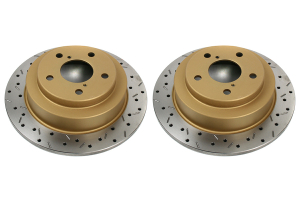 DBA 4000 Series Drilled/Slotted Rear Rotor Pair ( Part Number: 4644XSG)