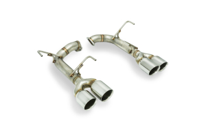 Remark Axle Back Exhaust Muffler Delete Stainless Double Wall Tips (Part Number: )