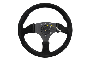 NRG Reinforced Steering Wheel 350mm Comfort Suede Black - Universal