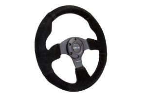 NRG Reinforced Steering Wheel Suede 320mm Black - Universal