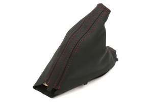 AutoStyled Black Leather E-Brake Boot w/ Red Stitching (Part Number: )