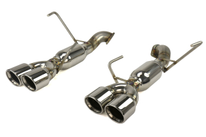 ETS Axle Back Exhaust System w/ Muffler Polished Tips ( Part Number:ETS 400-33)