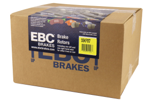 EBC Brakes S5 Front Brake Kit Yellowstuff Pads and 3GD Rotors - Mitsubishi Evo 8/9 2003-2006