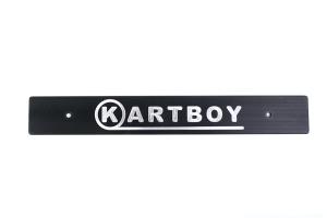 Kartboy Front License Plate Delete Black ( Part Number:KAR KB-055-PL-BLK)