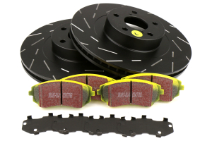 EBC Brakes S9 Front Brake Kit Yellowstuff Pads and USR Rotors - Subaru Models (inc. 2003-2005/2008 WRX / 2003-2008 Forester)