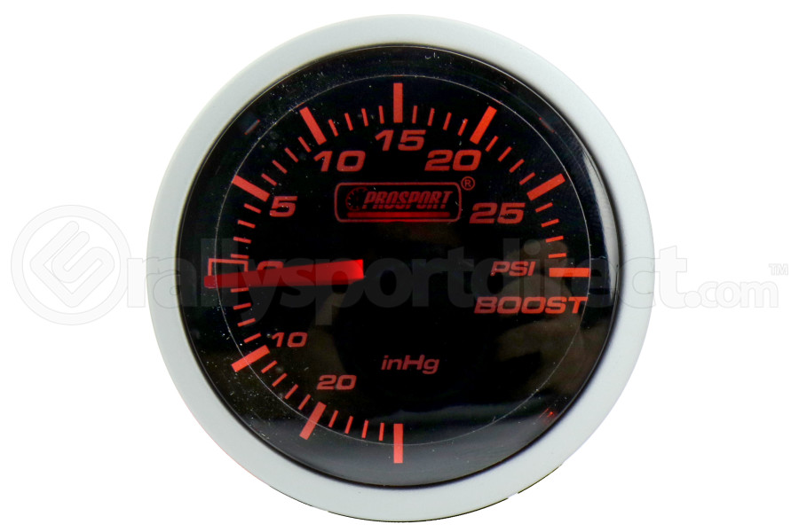 ProSport Boost Gauge Mechanical Amber/White 52mm ( Part Number:PRS 216BFWABOSM.PSI)