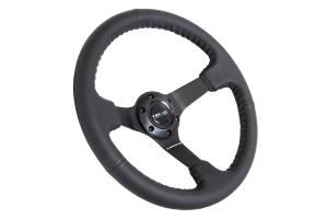 NRG Reinforced Steering Wheel Odi Signature 350mm 3in Deep Black - Universal