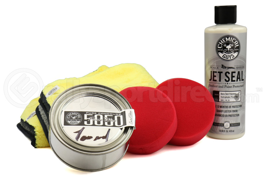 Chemical Guys Jetseal and 5050 Paste Wax Ultimate Shine and Protection Kit (6pc) - Universal