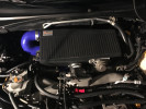 Mishimoto Black Top Mount Intercooler w/ Blue Hoses ( Part Number: MMTMIC-WRX-01BKBL)