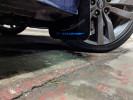 Rally Armor UR Mudflaps Black Urethane Blue Logo ( Part Number: MF32-UR-BLK/BL)