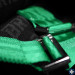 Takata Race 4 4-Point Harness Green Snap-On (Part Number: )