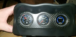 ATI Center Gauge Pod Face Carbon Fiber ( Part Number: CLUST-TCAR-FP)